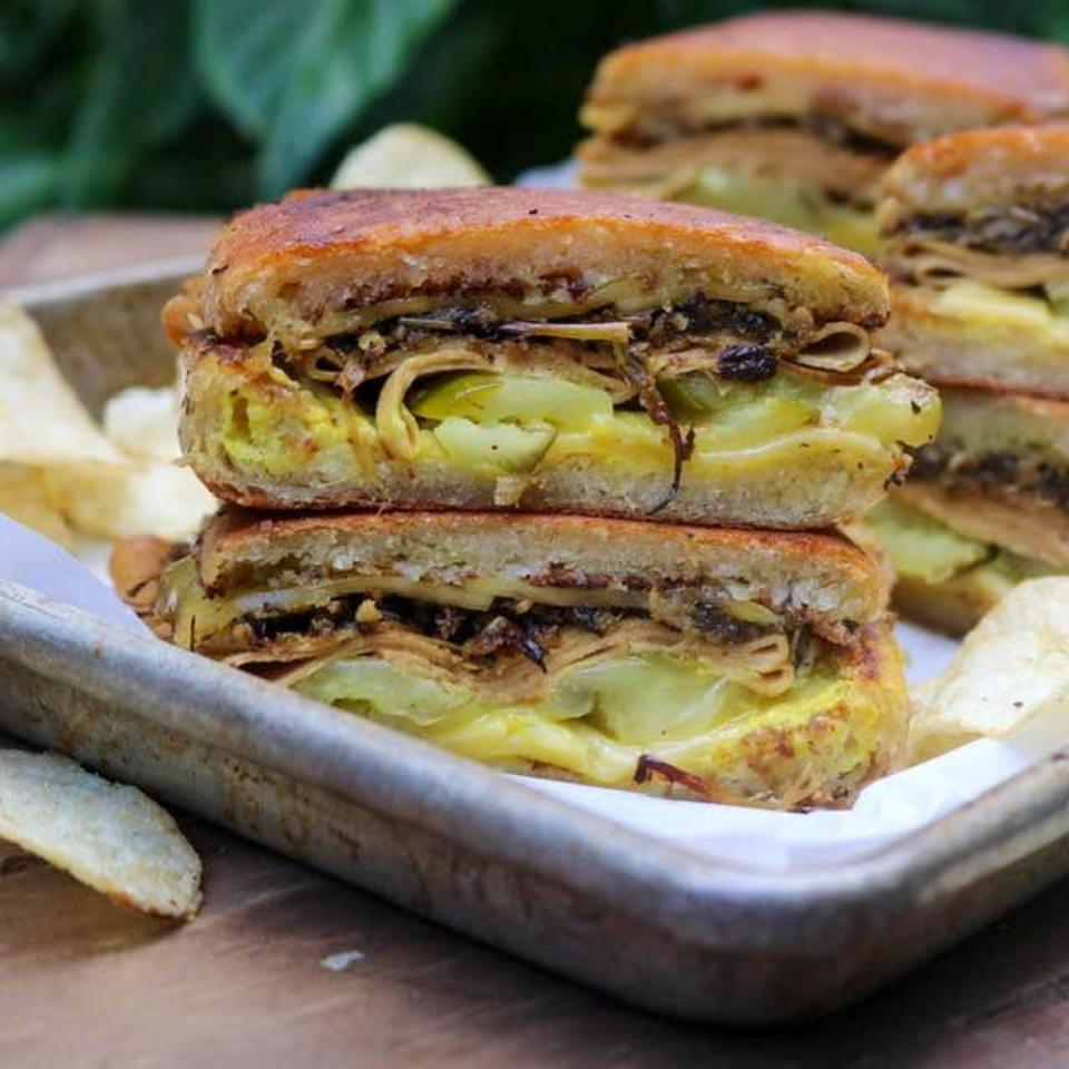 Final vegan Cuban sandwich