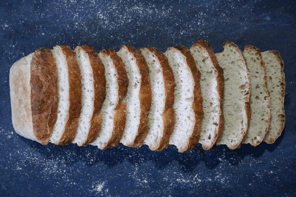 Top shot of bread