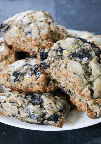 Final vegan blueberry citrus scones