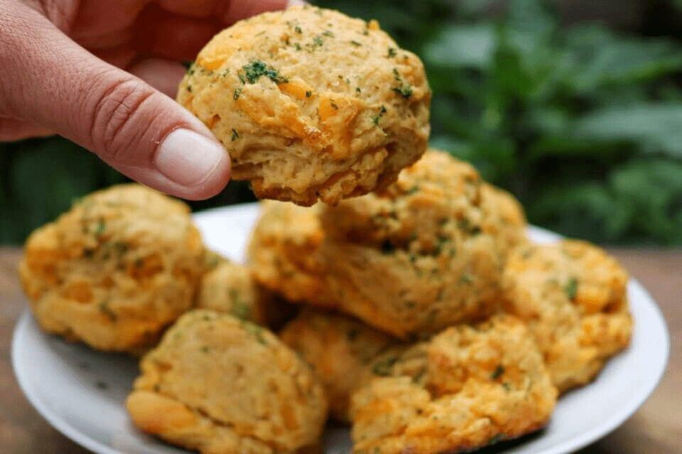 Grabbing a biscuit