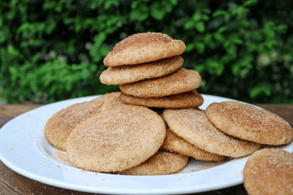 Tall stack of cookies