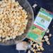 Big bowl of the cheesiest vegan popcorn ever