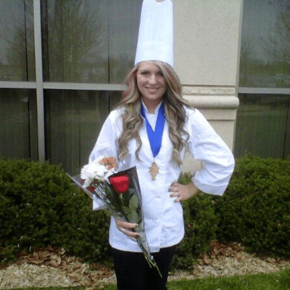 Summer Storm at her culinary school graduation