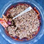 Vegan pear and blackberry crisp