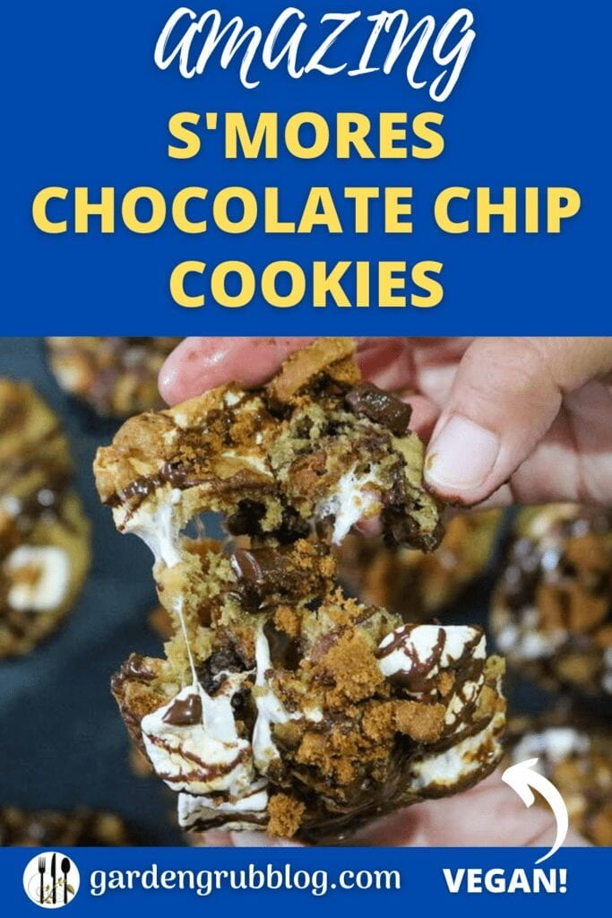 S'mores cookies pin for Pinterest!