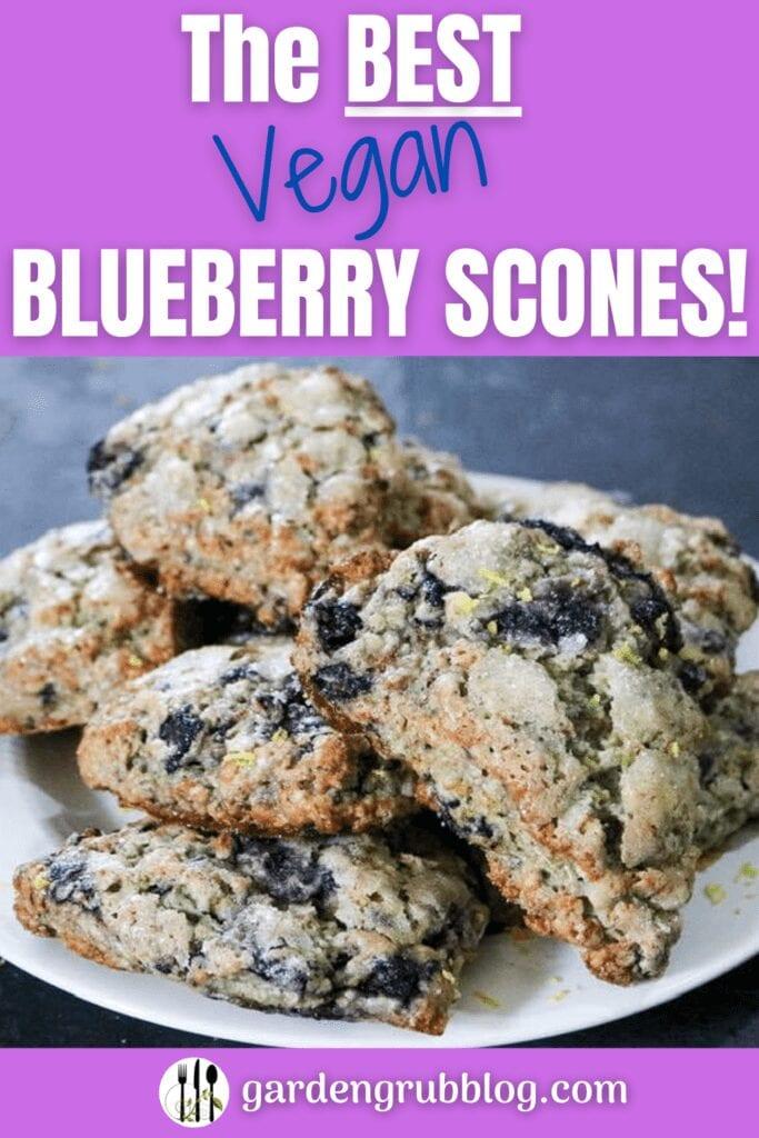 Vegan blueberry scones pin for Pinterest