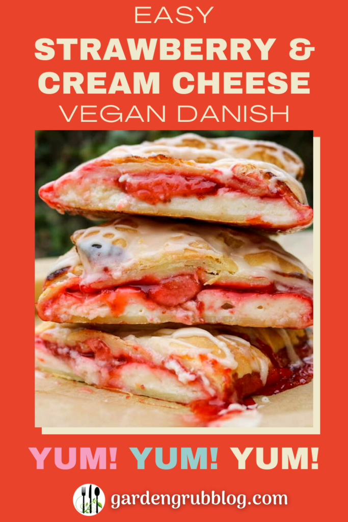 Vegan danish pin for Pinterest!