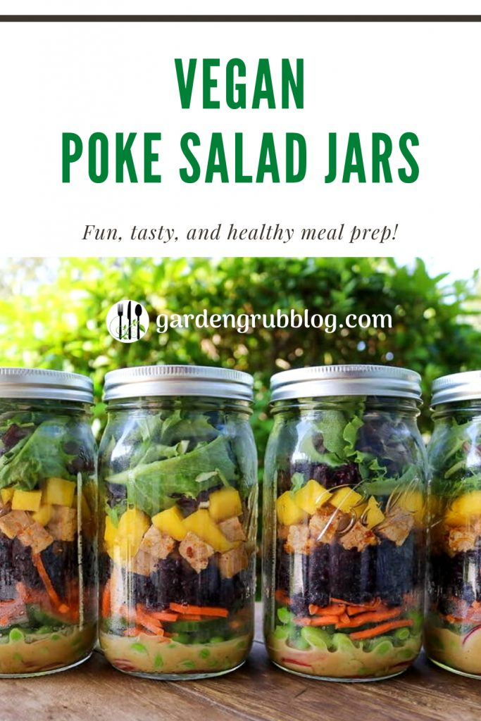 Vegan poke salad pin for Pinterest!
