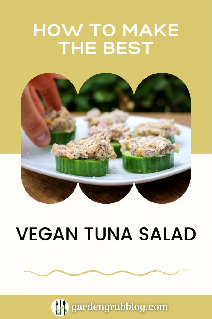 Vegan tuna salad pin for pinterest