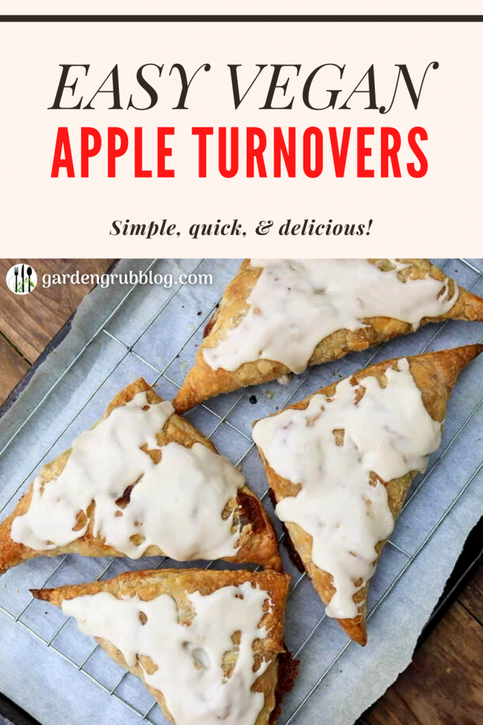 Easy vegan apple turnovers pin for Pinterest!